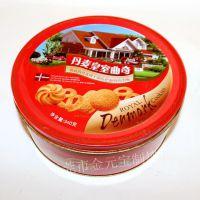 厂家定做马口铁盒密封圆形茶叶马口铁罐食品包装烘焙松果罐定制