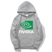 欧美创意AMD NVIDIA 英伟达男士长袖套头印花卫衣潮款