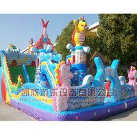 郑州凯欣厂家直销儿童大型户外充气滑梯儿童游乐设备可定制