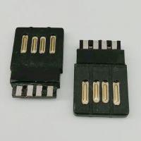USB 2.0全塑公头/A公金手指 4P焊线式/正反插/总长19.3/外露12.3/单面焊线/黑胶