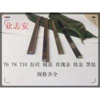 实心不锈钢t形条T10 6厘木板墙木缝装饰条T8厘木门木柜美缝T型条