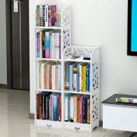 儿童书架置物架简易书柜桌上书架简约落地学生用客厅小书架省空间
