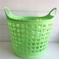 手提篮 家用时尚彩色环保塑料杂物脏物购物篮 五元店地摊货源