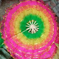 360度五层圆形纱扇 舞蹈扇子道具批发舞蹈用品秧歌扇花扇厂家批发