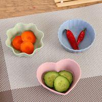 家用厨房小麦秸秆调味碟创意塑料圆形咸菜小碟子餐具蘸料小吃碟