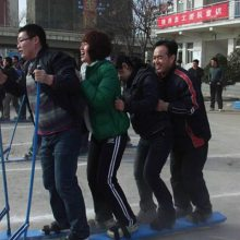 四川职工工会4人铁质协力竞走趣味运动会器材齐心协力