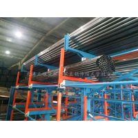 重庆管道公司专用货架 伸缩式管材货架定制 大管件存放架