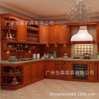 专业生产PVC吸塑整体橱柜  多功能实木壁柜 简易整体厨房橱柜