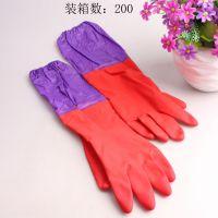 爆款 加长家务手套 加厚保暖橡胶手套 洗碗洗衣胶乳套批发