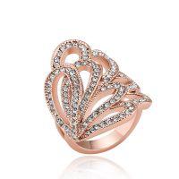 外贸手饰速卖通饰品 合金镶钻复古蝴蝶戒指 女 欧美指环货源批发