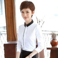 秋季职业白色衬衫女长袖2017新款韩版修身百搭学生ol正装工装衬衣
