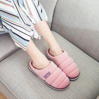 一件代发酷趣情侣拖鞋冬季室内家居防滑保暖棉拖2018新款棉拖鞋女