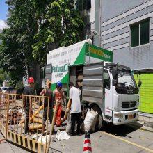 新型吸粪车,处理后的污水排入市政污水管网