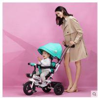 宝仕儿童三轮车脚踏车1-3-5岁座位转向婴儿手推车宝宝童车自行车