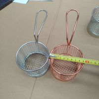 厂家供应直销炸篮不锈钢304炸筛厨具用品餐厅油锅炸篮可定制