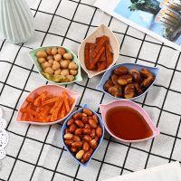 树叶小碟子 创意小吃盘子日式餐具醋碟酱油碟咸菜碟子麦秆餐具