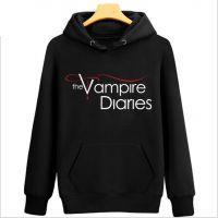 Vampire Diary吸血鬼日记卫衣 春季加绒加厚套头连帽卫衣外 情侣