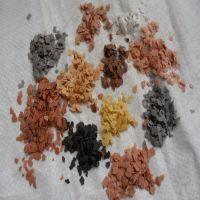 厂家供应复合岩片 天然岩片 真石漆染色岩片