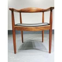 进口胡桃木椅子全实木总统椅肯尼迪椅靠背椅书椅办公椅茶椅主人椅客椅新中式简约现代北欧带扶手