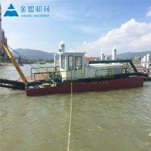 12寸泵射吸式抽沙船小时能抽三百方的沙子