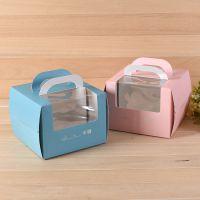 4/6/8/10/12寸欧式烫金手提生日蛋糕盒 纸盒 烘焙包装盒 定制LOGO
