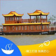 湖北30人观光船价格 三峡人家景区观光船门票 得胜湖定制木船