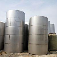 出售9成新不锈钢储罐葡萄酒储罐30立方立式储罐酒精罐