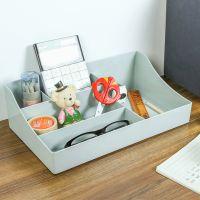 分格化妆品收纳盒梳妆台储物盒桌面塑料文具护肤品整理盒办公桌置