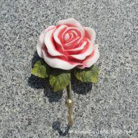 原单日韩风格英伦欧式花纹田园创意玫瑰艺术衣帽挂钩