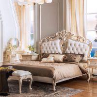 上海齐居置家欧式实木床1.8米雕花法式床定制
