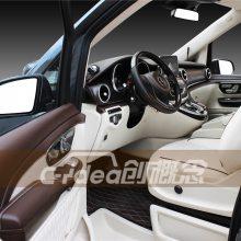 奔驰V260改装高清升降电视 升级更具休闲性的内饰