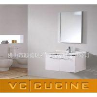 浴柜厂直销定制欧式pvc白色浴室柜 挂墙式卫生间洗脸盆组合浴柜