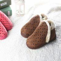 冬季儿童包后跟棉拖鞋  大童5-12岁软底家居棉拖鞋清仓特价批发