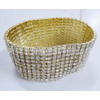 【高品质欧美时尚手镯】 美国电视促销满水钻手环 金属饰品