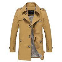 1306男式水洗风衣夹克男士韩版时尚纯棉潮流外套跨境男装速卖通
