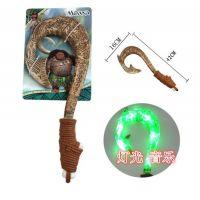 现货海洋奇缘 毛伊的魔法武器 鱼钩刀 音乐 灯光 Moana 光剑玩具