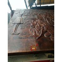 大型锻铜浮雕壁画装饰背景墙细节效果图