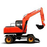 国产轮式挖掘机 PC8680多功能挖机 实时监控系统 自动报警