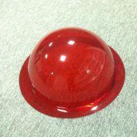 红色透明有机玻璃半球罩 亚克力红玛瑙色带边半圆形球罩