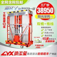 坦龙工厂物业双桅电动升降机10m高空作业平台展览馆高空维修平台
