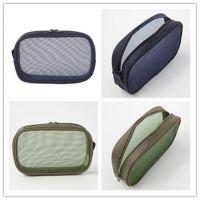 厂家订制MUJI同款尼龙网化妆袋无印同款网眼透明化妆收纳包