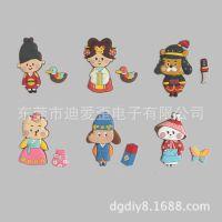 定制做 韩版时尚卡通公仔软胶冰箱贴 动物造型PVC环保卡通冰箱贴