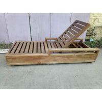 工厂定制缅甸柚木沙滩椅 做旧柚木躺椅 仿古实木躺床