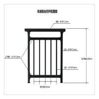 热销直销组装式阳台栏杆锌钢防护栏 焊接式各种花型的栏杆