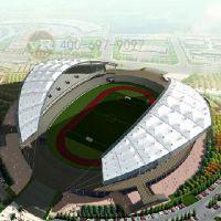 学校PTFE膜结构体育场馆建筑设计开放式城市膜结构运动场馆安装