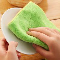 双层加厚吸水不掉毛抹布不沾油洗碗布厨房清洁巾擦桌布擦碗百洁布