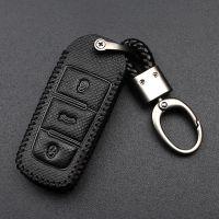 真皮钥匙钥匙包2018款一汽大众CC迈腾b7插入式专用汽车套男女扣