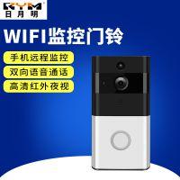 批发RYM 家用无线WIFI可视猫眼门铃 智能语音对讲视频防盗监控门