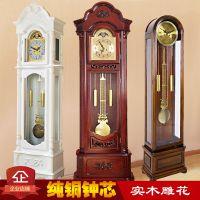 落地钟 客厅实木中式复古座钟立式奢华古典报时大气机械欧式立钟