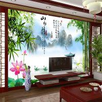 3d大型无缝壁画 田园江南风格壁纸 山水情系列现代简约风景背景墙